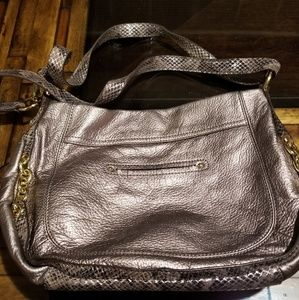 b. makowsky Bags - Faux Leather & Snakeskin Purse